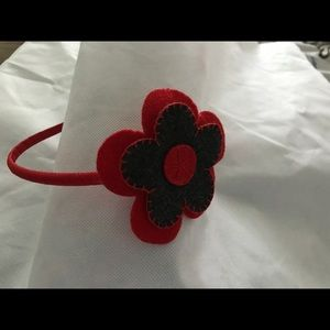 Other - Girls Red and Brown Felt Flower Headbands